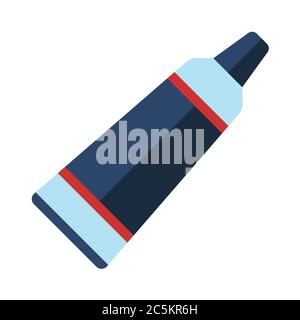 Toothpaste on white background. EPS 10 in trendy flat style isolated.