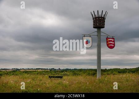 Essex sign at Wat Tyler country park, Basildon, Essex, UK. - Stock Photo