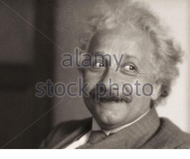 Albert Einstein (1879 – 1955) was a German-born theoretical physicist who developed the theory of relativity, one of the two pillars of modern physics - Stock Photo