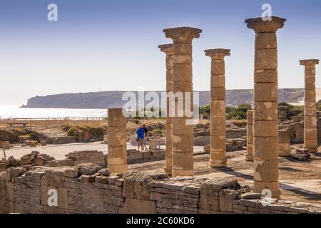 Ruins and museum of a Roman city, Baelo Claudia, Cadiz, Spain on October 10, 2017.