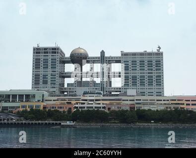 Odaiba (Tokyo)/Japan -  Fuji television building Stock Photo
