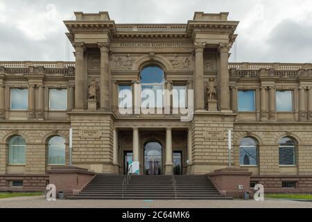entrance Staedel Museum, art museum in Frankfurt am Main, Germany