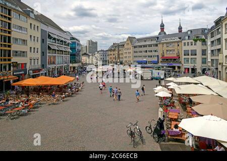 Market Square, Bonn, North Rhine-Westphalia, Germany - Stock Photo