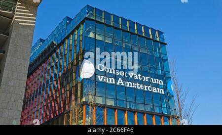 Conservatorium van Amsterdam (music division of the University of Arts), Oosterdok, Amsterdam, North Holland, Netherlands - Stock Photo