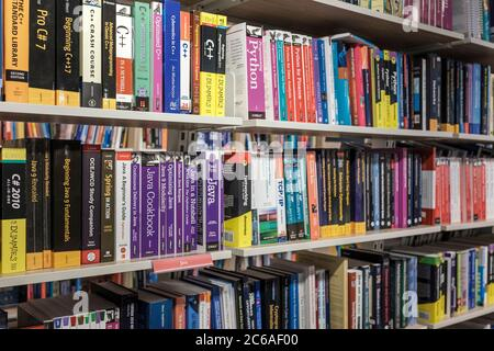 Books on Computer programing and networking in Bookshop, London,UK