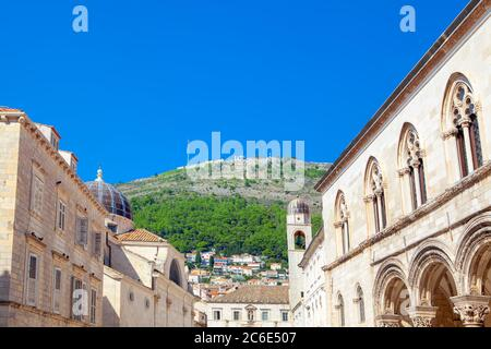 Church of Saint Blaise at Rector's Palace in Dubrovnik - Stock Photo