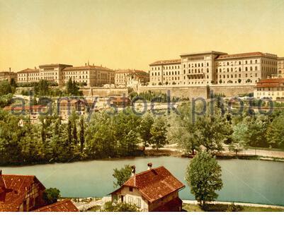 View of Bern, Switzerland 1890. - Stock Photo