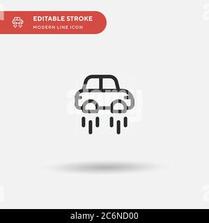 Flying Car Simple vector icon. Illustration symbol design template for web mobile UI element. Perfect color modern pictogram on editable stroke. Flyin