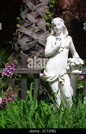 Garden Statue, Los Rios Historic District, San Juan Capistrano, Orange County, California, USA - Stock Photo