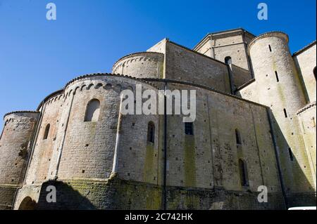 Italy, Basilicata, Acerenza, the Cathedral of Acerenza, dedicated to Santa Maria Assunta and San Canio Bishop in the Romanesque-Gothic style of the 13th chentury ad.