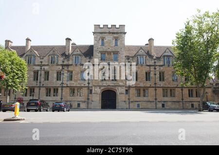 St John's College on St Giles' in Oxford. Part of The University of Oxford in the United Kingdom