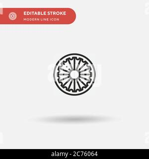 Chakra Simple vector icon. Illustration symbol design template for web mobile UI element. Perfect color modern pictogram on editable stroke. Chakra icons for your business project - Stock Photo