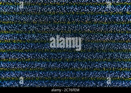 Abstract screen texture glitch noise. Test screen glitch noise texture template. Black and white background. Abstract monochrome image includes a