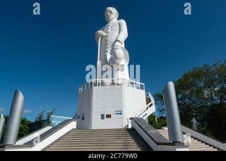 Statue of Padre Cicero, Juazeiro do Norte, Ceara, Brazil. - Stock Photo
