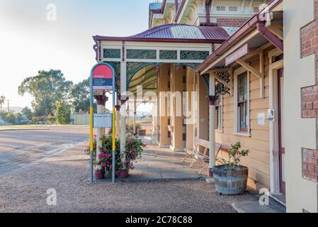 Mudgee Railway Station is an example of a first-class country terminal station built in 1884 to a exotic Victorian design with a French empire roof
