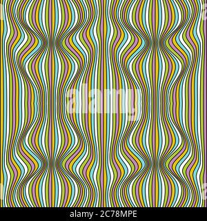 Vector abstract waves lines background Stock Photo