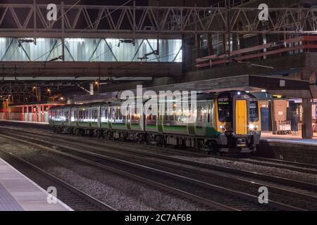 London Midland Siemens Desiro class 350 electric multiple unit train 350123 at Stafford railway station - Stock Photo