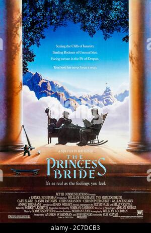 The Princess Bride (1987) directed by Rob Reiner and starring Cary Elwes, Mandy Patinkin, Robin Wright and Billy Crystal. William Goldman adapts his own book in this much loved postmodern fairy tale set in the land of Florin.