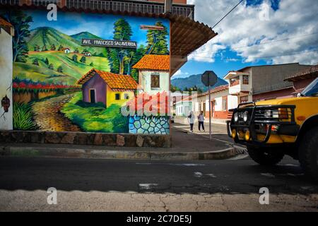 Wall street art graffiti in Salcoatitan Sonsonate El Salvador Central America. Ruta De Las Flores, Department Of Sonsonate.