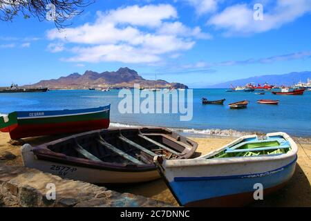 At the waterfront in Mindelo, Sao Vicente, Cape Verde - Stock Photo