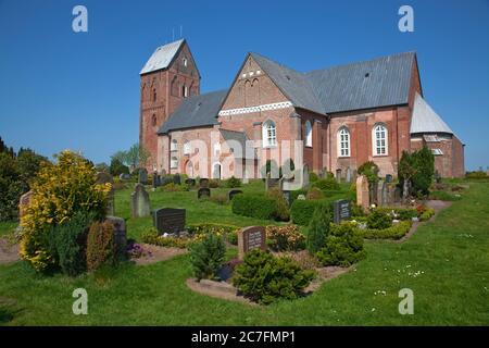 Germany, Schleswig-Holstein, St. Johannis church in Nieblum, Foehr Isle, North Sea.
