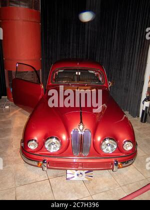 Bristol 401 coupe 1952, The Royal Automobile museum. - Stock Photo