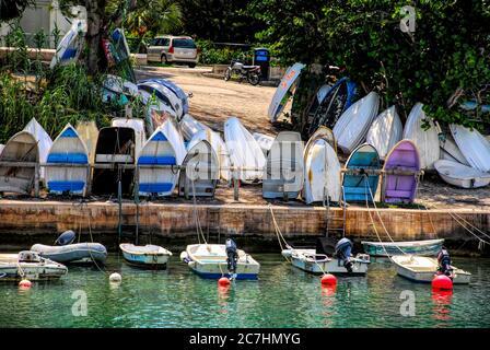 Dinghy dock in Bermuda