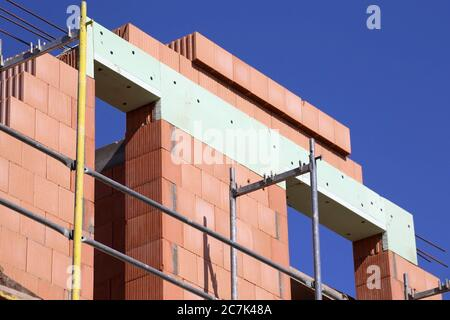 Detached house under construction - Stock Photo