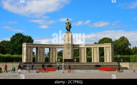 Soviet War Memorial in Tiergarten, Berlin, Germany