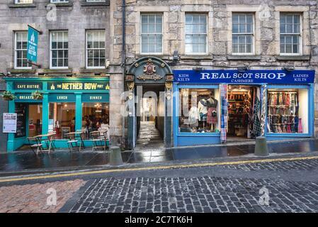 Tweeddale Court aisle on High Street, part of Royal Mile in Edinburgh, capital of Scotland, part of United Kingdom - Stock Photo