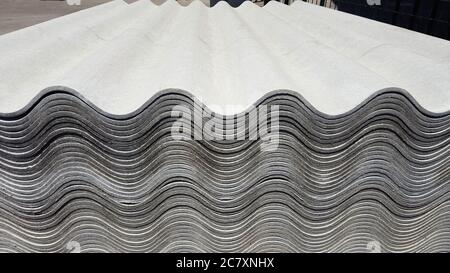 Asbestos Roof Asbestos Cement Roofing Sheets Corrugated Panels Background 3d Illustration Stock Photo Alamy