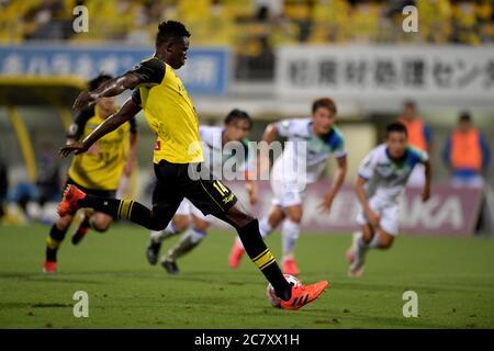 Michael Olunga of Kashiwa Reysol scores a goal during the 2020 J.LEAGUE Division 1 match between Kashiwa Reysol and Shonan Bellmare at Kashiwa Stadium on July 18, 2020 in Kashiwa, Chiba, Japan. Credit: FAR EAST PRESS/AFLO/Alamy Live News