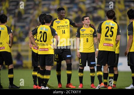 Michael Olunga (14) and Richardson (8) of Kashiwa Reysol during the 2020 J.LEAGUE Division 1 match between Kashiwa Reysol and Shonan Bellmare at Kashiwa Stadium on July 18, 2020 in Kashiwa, Chiba, Japan. Credit: FAR EAST PRESS/AFLO/Alamy Live News