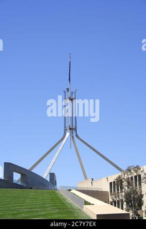 CANBERRA, AUSTRALIA - NOVEMBER 8, 2009: Parliament House is the meeting place of the Parliament of Australia located in Canberra.  It was opened on 9