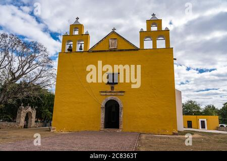 The colonial Church of St. Peter the Apostle was built in the 17th Century by the Franciscans in Cholul, Yucatan, Mexico.