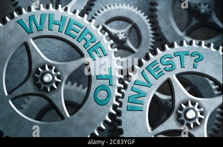 Writing note showing Where To Invest Question. Business concept for fundraising money to start business project startup System administrator control, - Stock Photo