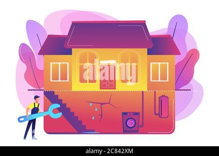 Basement services concept vector illustration - Stock Photo
