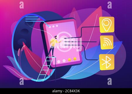 Wireless connectivity concept vector illustration.