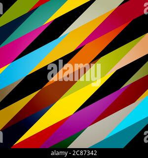 colorful abstract geometric background, illustration with rhombus,