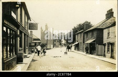 High Street (Showing the Castle Inn), Eastchurch, Isle of Sheppey, Minster on Sea, Kent, England.