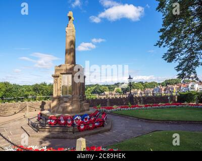 War memorial in the castle grounds at Knaresborough North Yorkshire England