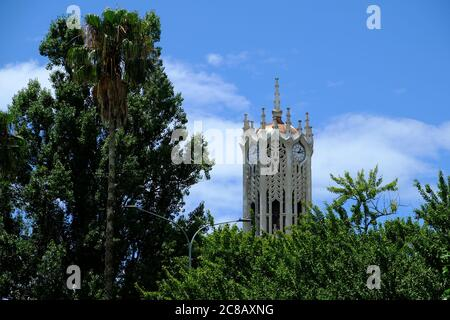 New Zealand Auckland - University Of Auckland - Clock Tower Stock Photo