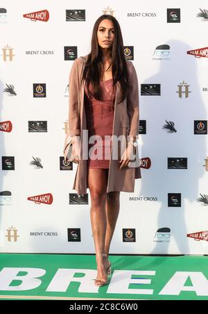 London, UK. 22nd July, 2020. Victoria Winterford attends the World Premiere of the 'Break' Drive-In at Brent Cross Shopping Centre in London. Credit: SOPA Images Limited/Alamy Live News Stock Photo
