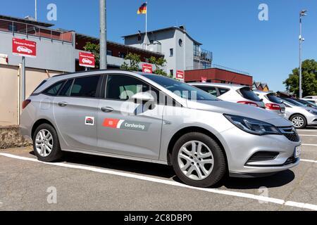 WIRO DB Carsharing Opel Astra - Stock Photo