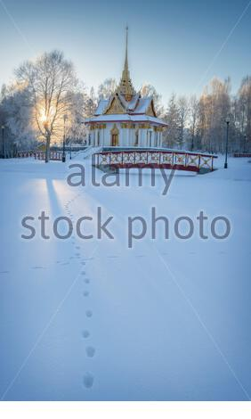 Thai paviljong is standing in utanede in Sweden - Stock Photo