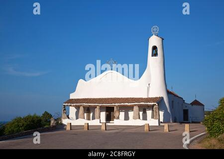 geography / travel, Italy, Sardinia, church Stella Maris in Porto Cervo, Costa Smeralda, Sardinia, Additional-Rights-Clearance-Info-Not-Available - Stock Photo