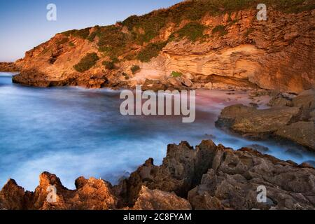 geography / travel, South Africa, Eastern Cape, Sunrise on an unspoilt East London sea scape, No-Tourism-Advertising-Use Stock Photo