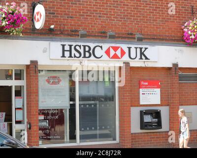HSBC Bank in Marlow, Buckinghamshire, UK - Stock Photo