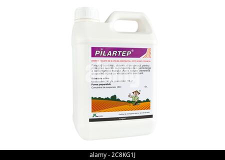 Moldova, Tiraspol - May 14, 2019: Plant protection product - Pilartep. Isolate on a white background.