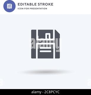 Floppy Disk icon vector, filled flat sign, solid pictogram isolated on white, logo illustration. Floppy Disk icon for presentation. - Stock Photo
